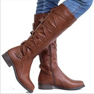 NEW BROWN KNEE HIGH RIDING BOOTS